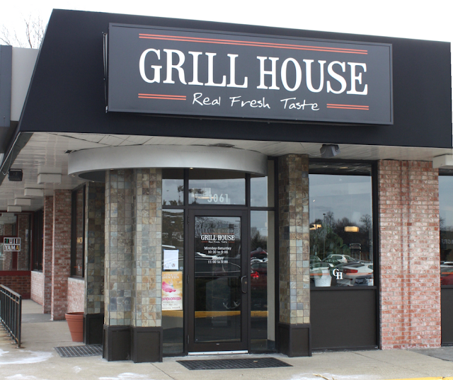 Enjoying the fresh homemade flavors at The Grill House in Northbrook, Illinois