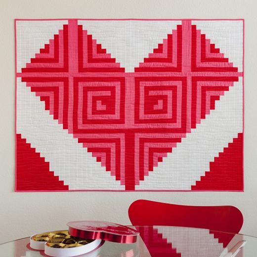 Log Cabin Love Wall Hanging Free Pattern