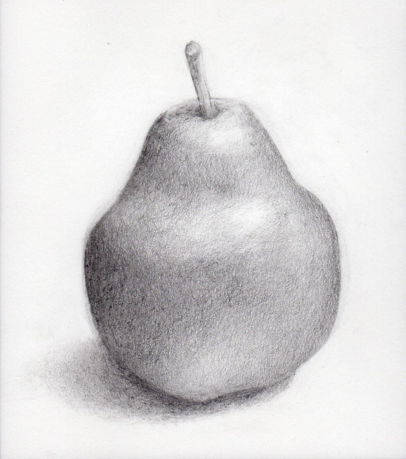 яблоко и груша картинки карандашом уютен любое