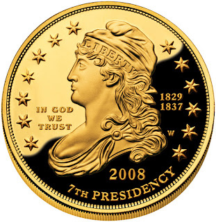 US Gold Coins Andrew Jackson's Liberty First Spouse 10 Dollars Gold Coin