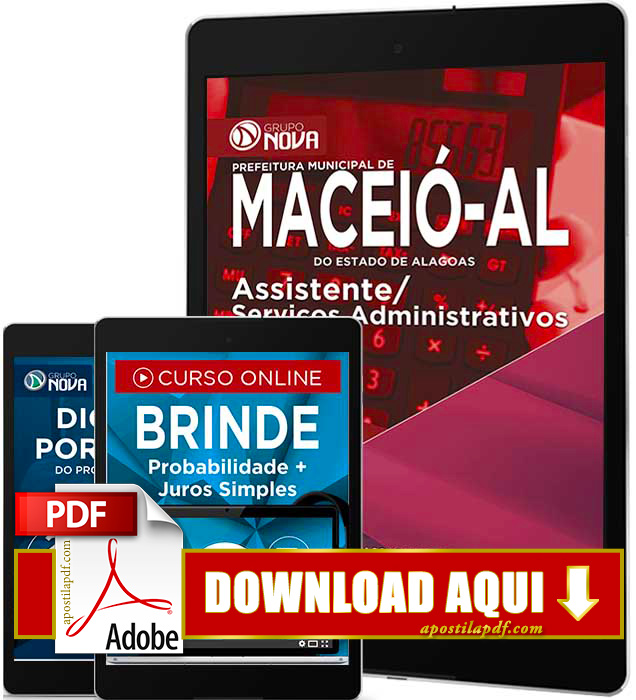 Apostila Prefeitura de Maceió 2016 PDF Download Assistente de Serviços Administrativos