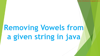 Program: How to remove vowels from String in java?