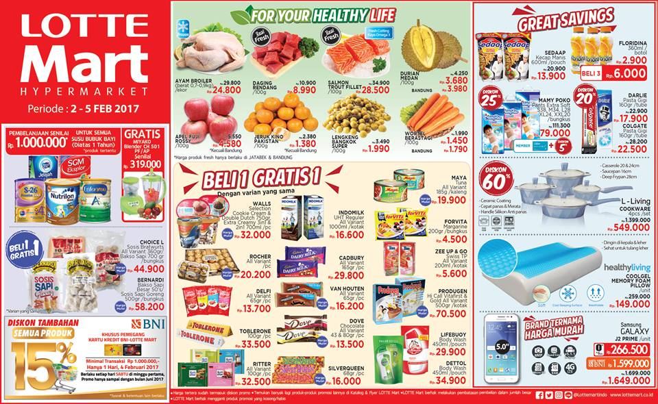 Promo LOTTEMART Promo Weekend Mega Mall Pakuwon City Periode 2 - 5 Februari 2017