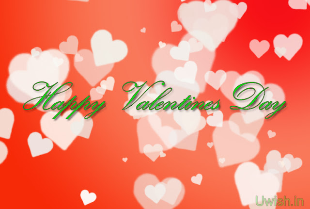Happy Valentines Day with red background hearts filled. Valentines day wishes and greetings 2013