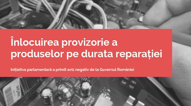 Înlocuirea provizorie a produselor aflate în Service - aviz negativ de la Guvern
