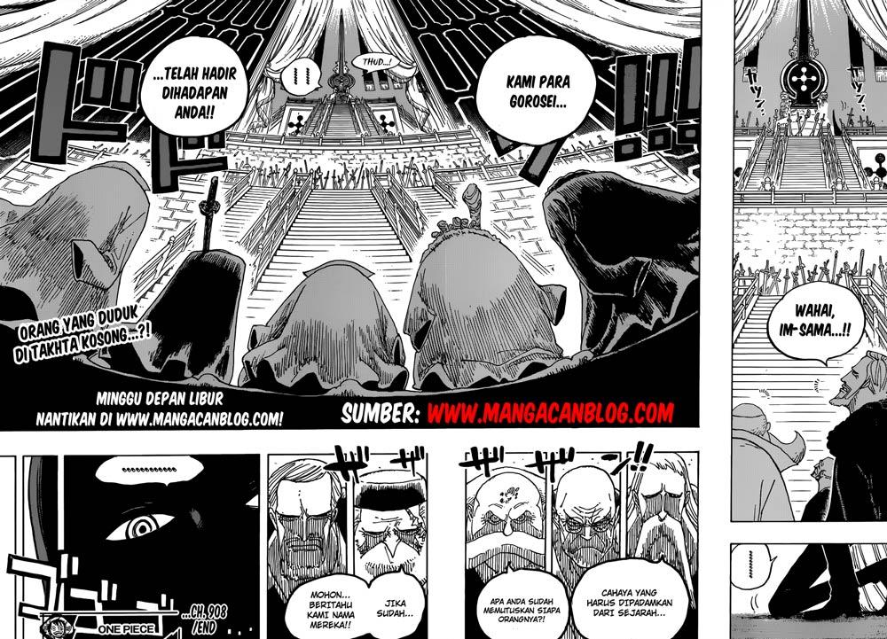 Komik Manga One Piece Chapter 909 Bahasa Indonesia
