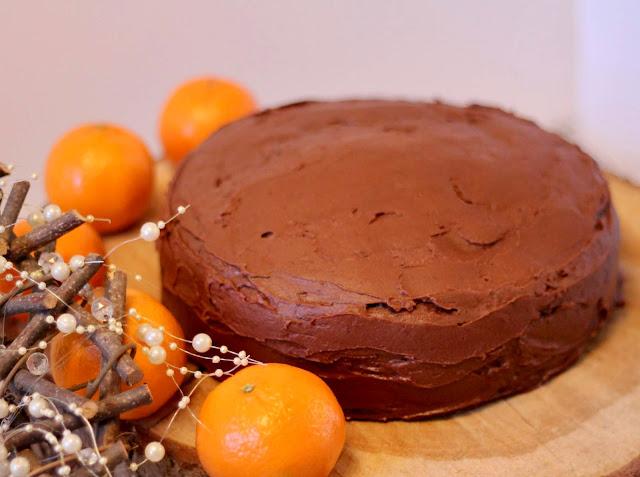 Dark chocolate and orange cake (Vegan)