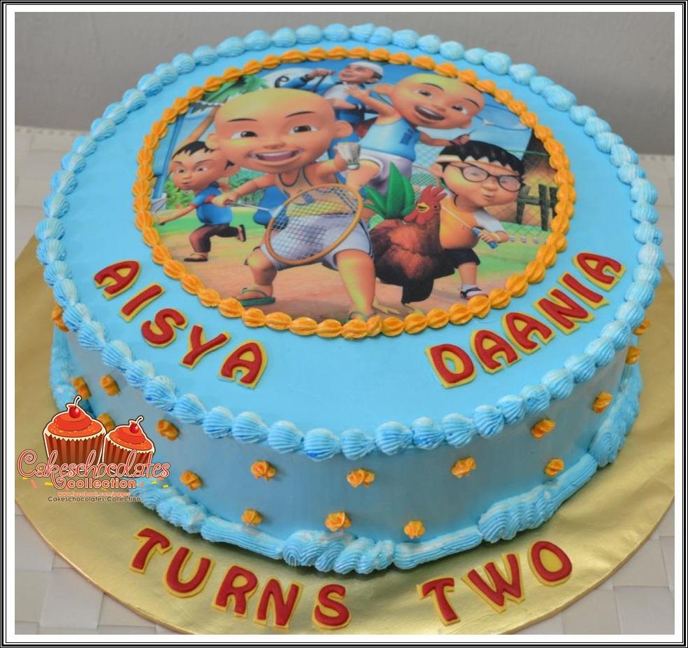 Cakeschocolates Collection: BIRTHDAY CAKE : Upin & Ipin