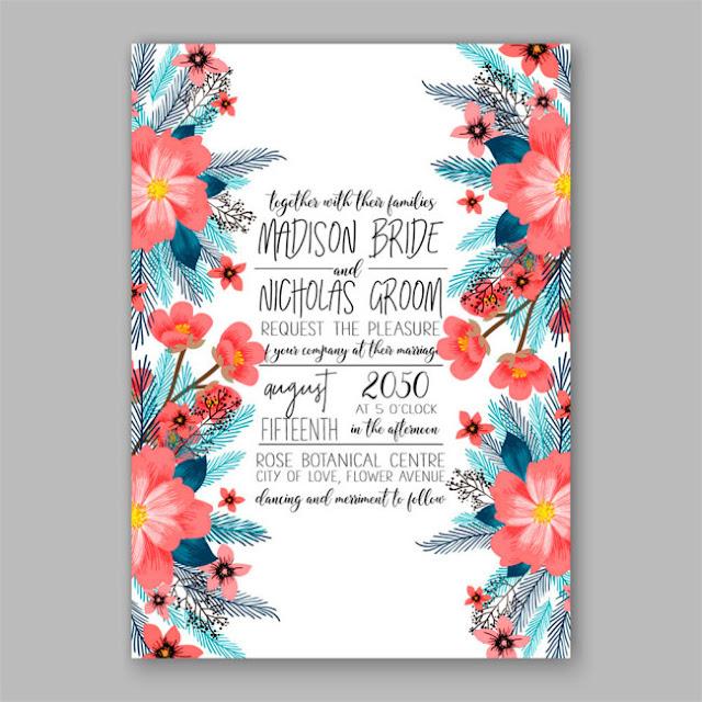 Hoa vector thiết kế thiệp cưới