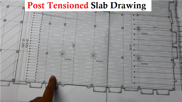 POST TENSION SLAB DRAWING PLAN READING TIPS