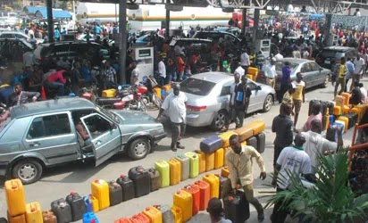 A fuel station during fuel scarcity