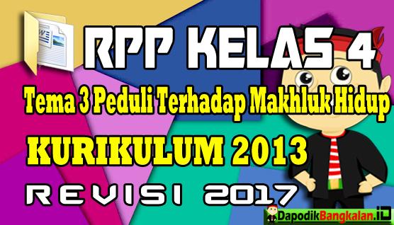 RPP Kelas 4 Kurikulum 2013 Revisi 2017 Tema 3
