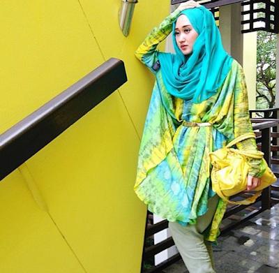 Model baju muslim dian pelangi terbaru