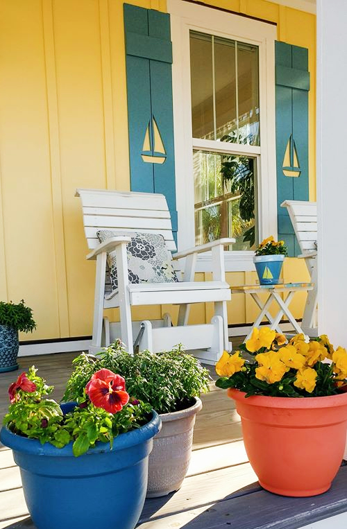 Decorative Nautical shutters porch curb appeal