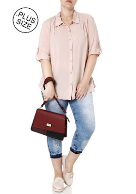 Look Plus Size Blusa Soltinha
