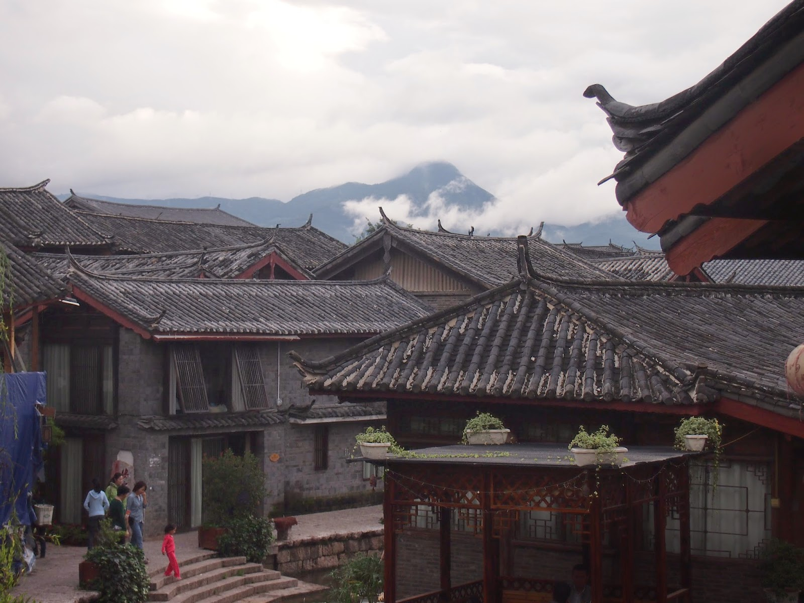 The lijiang old town with Naxi architecture style