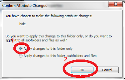 Hide any file and folders