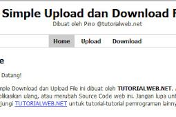 Source Code Upload dan Download Menggunakan Php Mysql