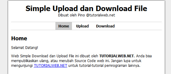 Program Upload dan Download Lengkap Di phpmysql