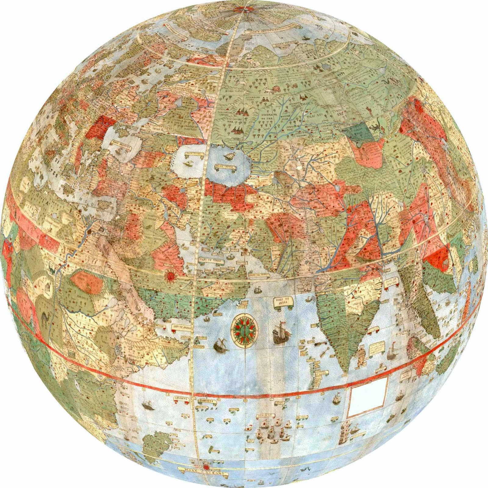 image relating to Printable Planisphere identified as Res Obscura: The Greatest Fantastic Map within just the Global: Urbano