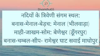 राजस्थान के नदियों के किनारे बसे प्रमुख नगर