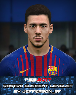 PES 2017 Faces Clément Lenglet by FaceEditor Jefferson_SF