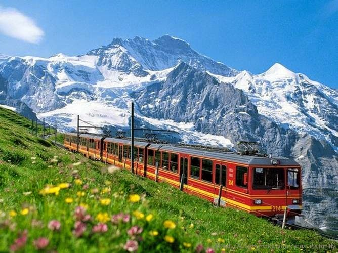 swiss alps train