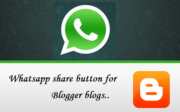 Whatsapp share button for blog