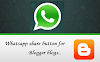 Whatsapp share button short script for Blogger
