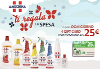 Logo Amuchina: vinci 36 gift Card PAM-Panorama del valore di € 25! Anticipazione
