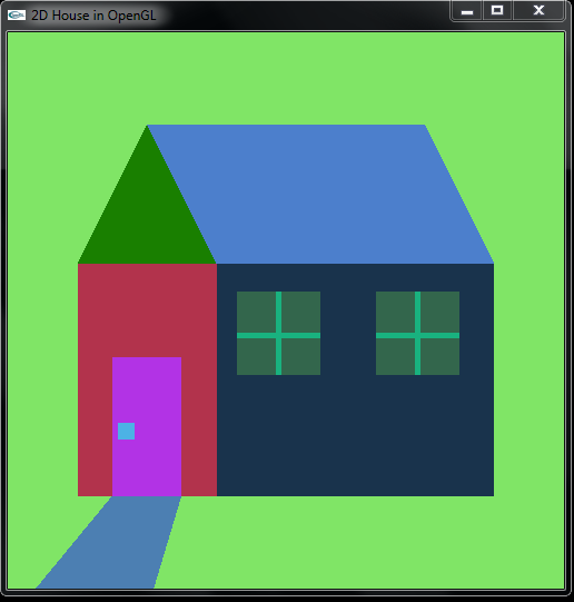 Projek Opengl Membuat Rumah Dengan Pembrograman C Dan C
