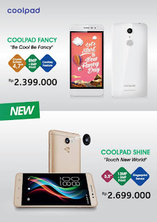 Harga Coolpad Shine dan Coolpad Fancy
