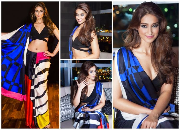 Ileana D'Cruz walked as the showstopper for Satya Paul's Autumn Winter'14