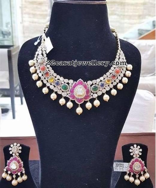 Navaratna Necklace by Srj Fine Jewellery