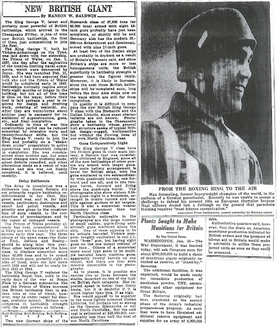 26 January 1941 worldwartwo.filminspector.com NY Times Max Schmelling