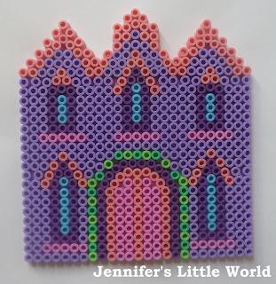 Hama bead fairy castle house