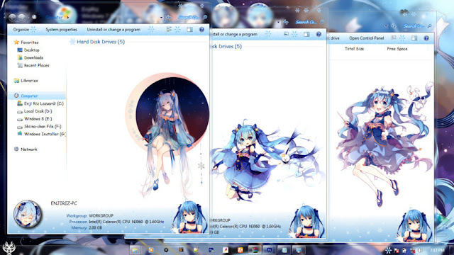 Snow Miku 2018 Theme Win 7 by Andrea_37