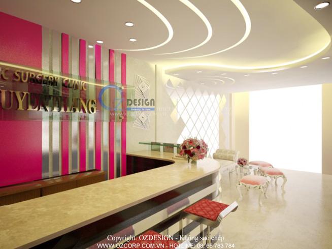 Thiết kế nội thất spa Anmy của thẩm mỹ viện bác sỹ Thắng