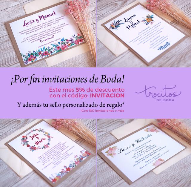 invitacion de boda  trocitos de boda