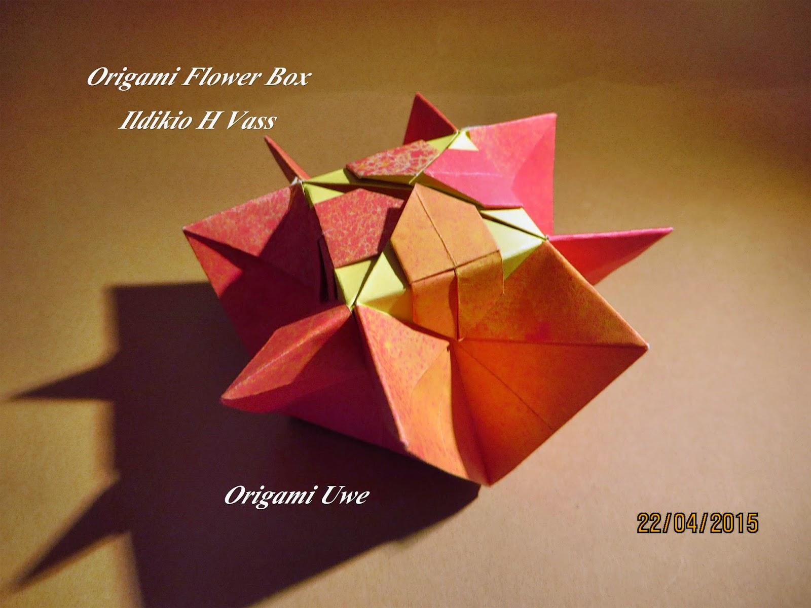 Origami, Fleurogami und Sterne: Origami Flower Box - photo#26