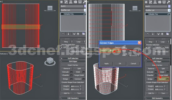 3ds max edges connect