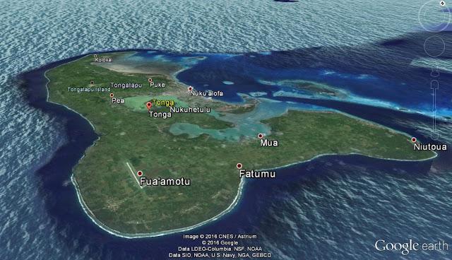 Tonga Island - Google Earth