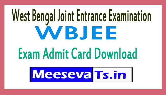West Bengal Joint Entrance Examination WBJEE Exam Admit Card Download