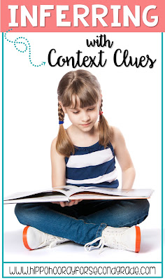 WOW! This is FULL of lesson ideas and activities for teaching inferring using context clues! Post includes a list of books, a YouTube video and a freebie.