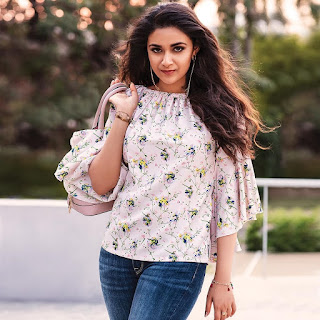 Keerthy Suresh with Cute and Lovely Smile in Reliance Trends Ad