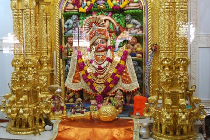 Image result for hanuman temple at sarangpur gujarat