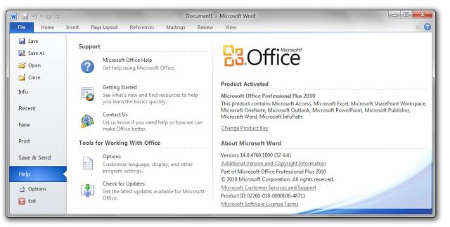 Cara Mudah Aktivasi Permanen Microsoft Office 2010 | Rocksfull