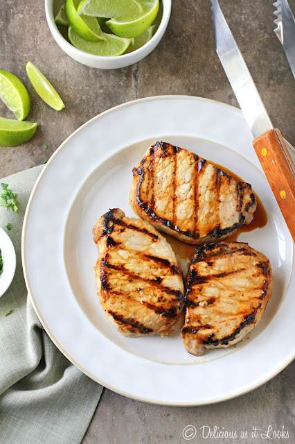 Low-FODMAP Grilled Cuban Spiced Pork Chops  /  Delicious as it Looks