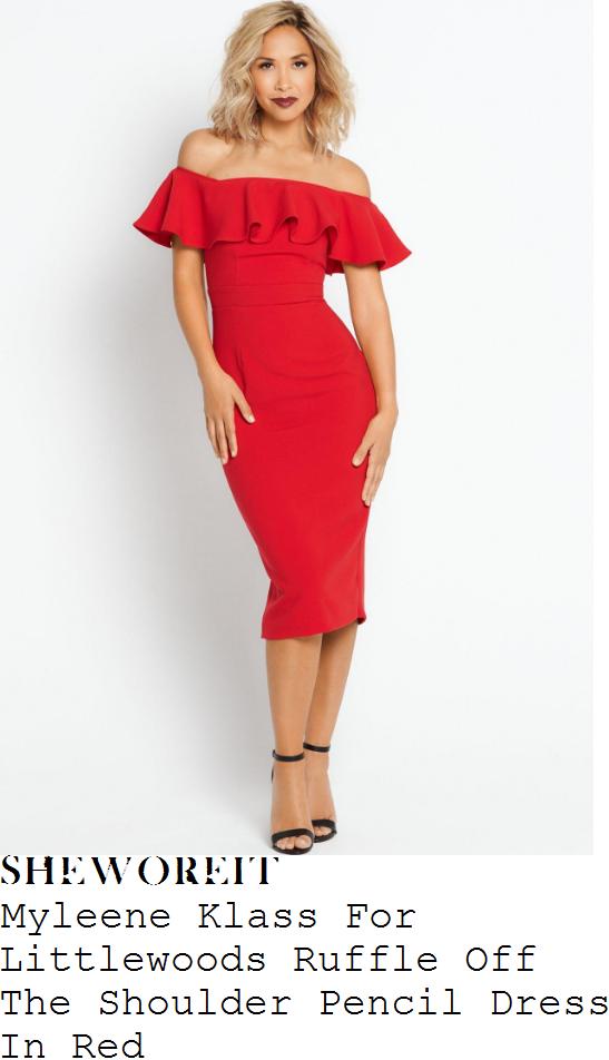 myleene-klass-myleene-klass-for-littlewoods-lipstick-red-off-the-shoulder-bardot-neckline-ruffle-frill-detail-tailored-pencil-dress