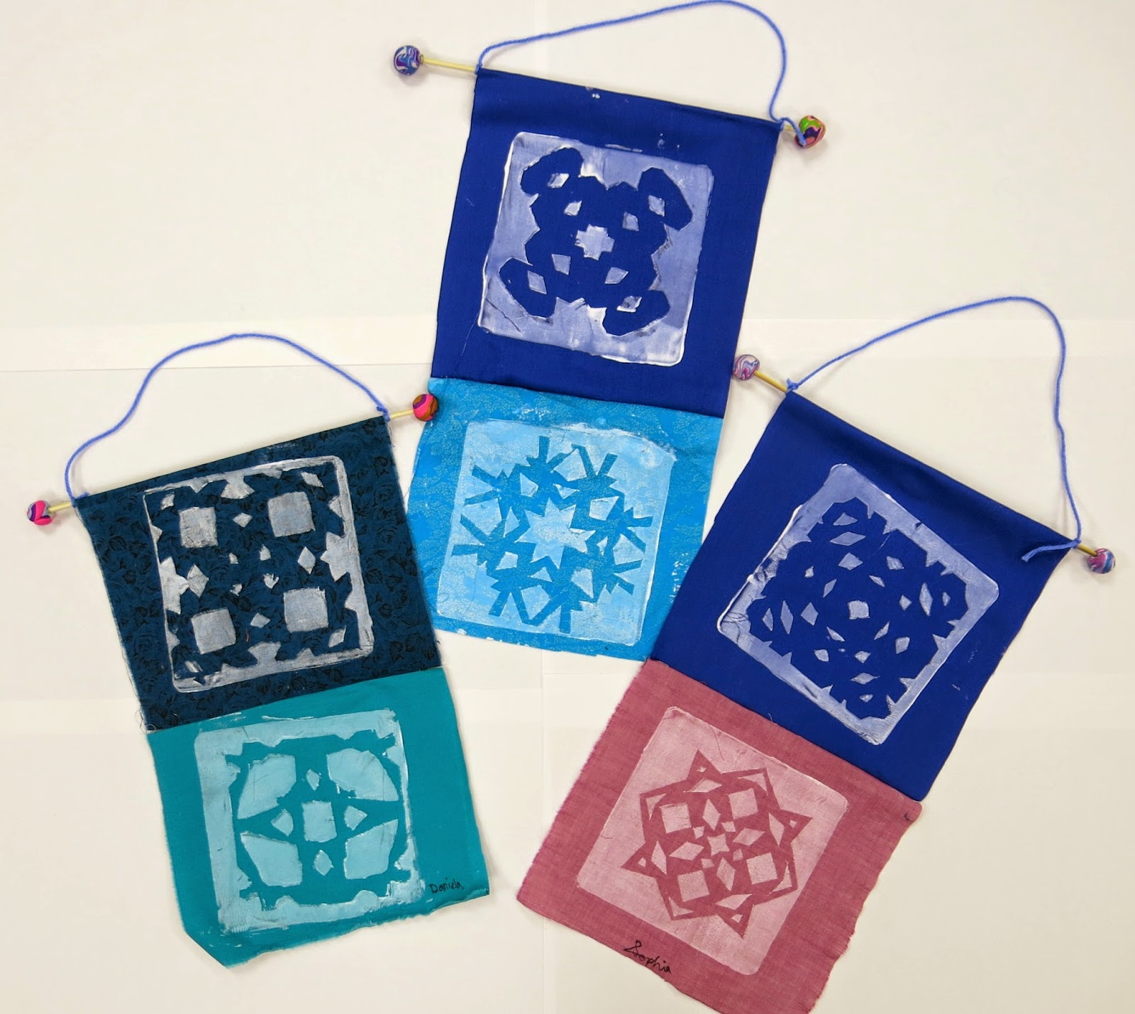 3rd Grade Christmas Craft Ideas Part - 33: In The Art Room: Printed Winter Banners